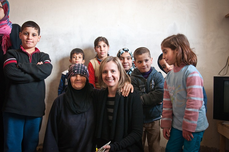 Visit with Refugee Family 58